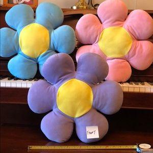 Pastel Flower throw pillows / plush